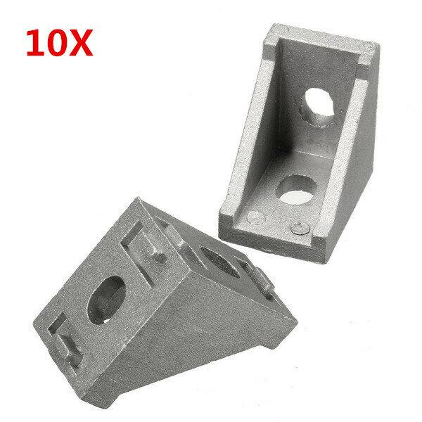 Suleve™ AJ28 Articulación de Esquina Angular de Aluminio 28x28mm Soporte en Angulo Recto Accesorios para Muebles 10pcs
