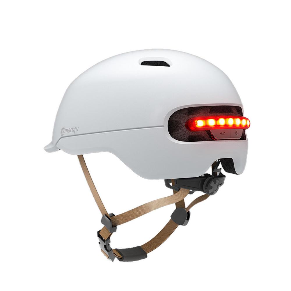 XIAOMI Smart4u SH50 Велосипедный шлем Intelligent Back Светодиодный EPS Регулируемая дышащая вентиляция IPX4 мотоцикл Горный автодрос для мужчи