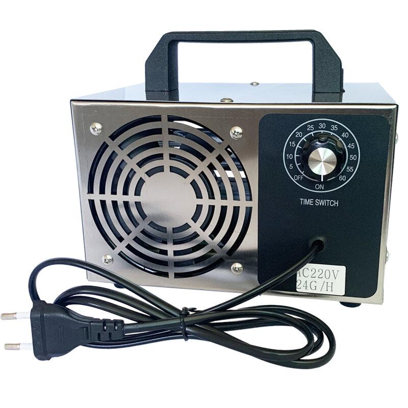 220 V 5 g / 10 g / 24 g / h O3-Ozongenerator Ozonator-Maschine Luftreiniger Luftreiniger Desodorierungs-Desinfektionsmittel mit Zeitschaltuhr
