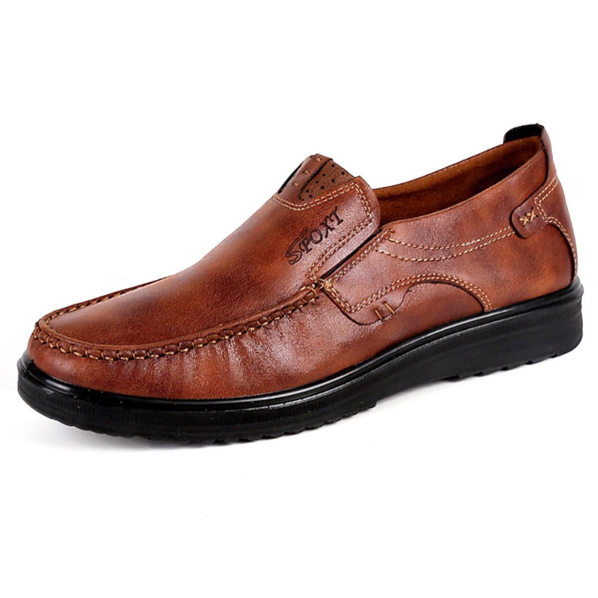 Menico Large Size Men Comfy Casual Microfiber Leather Oxfords Shoes