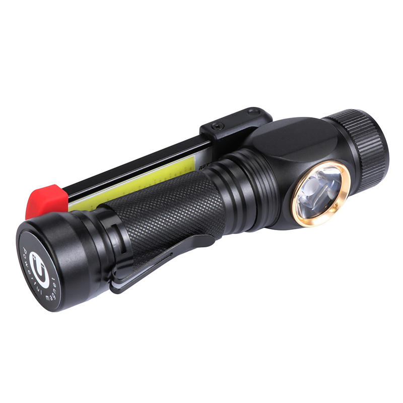 XANES W550 LED+COB 7Modes 360° Rotated+180° Foldable Head Magnetic Tail USB Rechargeable Flashlight Work Light
