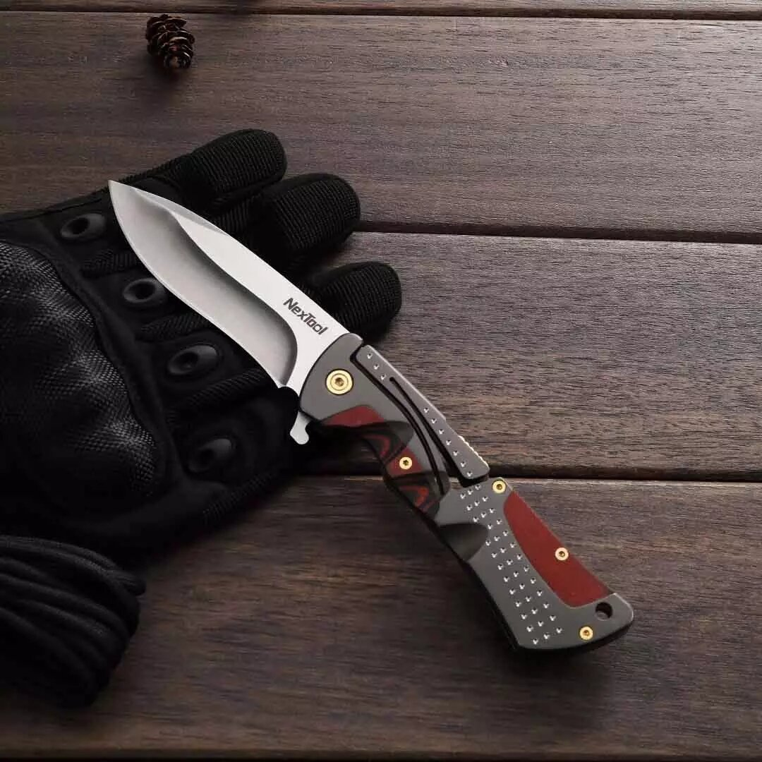 nextool klecker 217mm folding edc knife tactical survival stainless steel tools knifes for outdoor camping hiking climbing