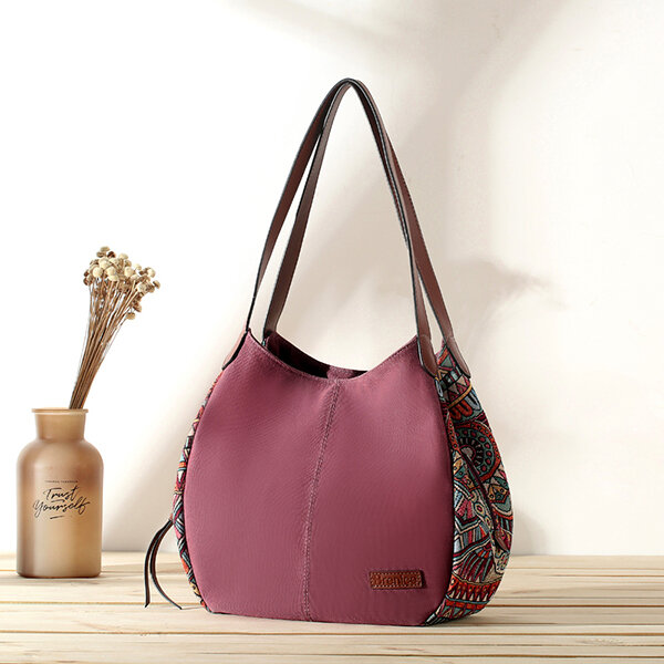 b651479eda06 3 Main Bags Brenice Bohemia Large Capacity Canvas Floral Handbag Shoulder  Bag For Women