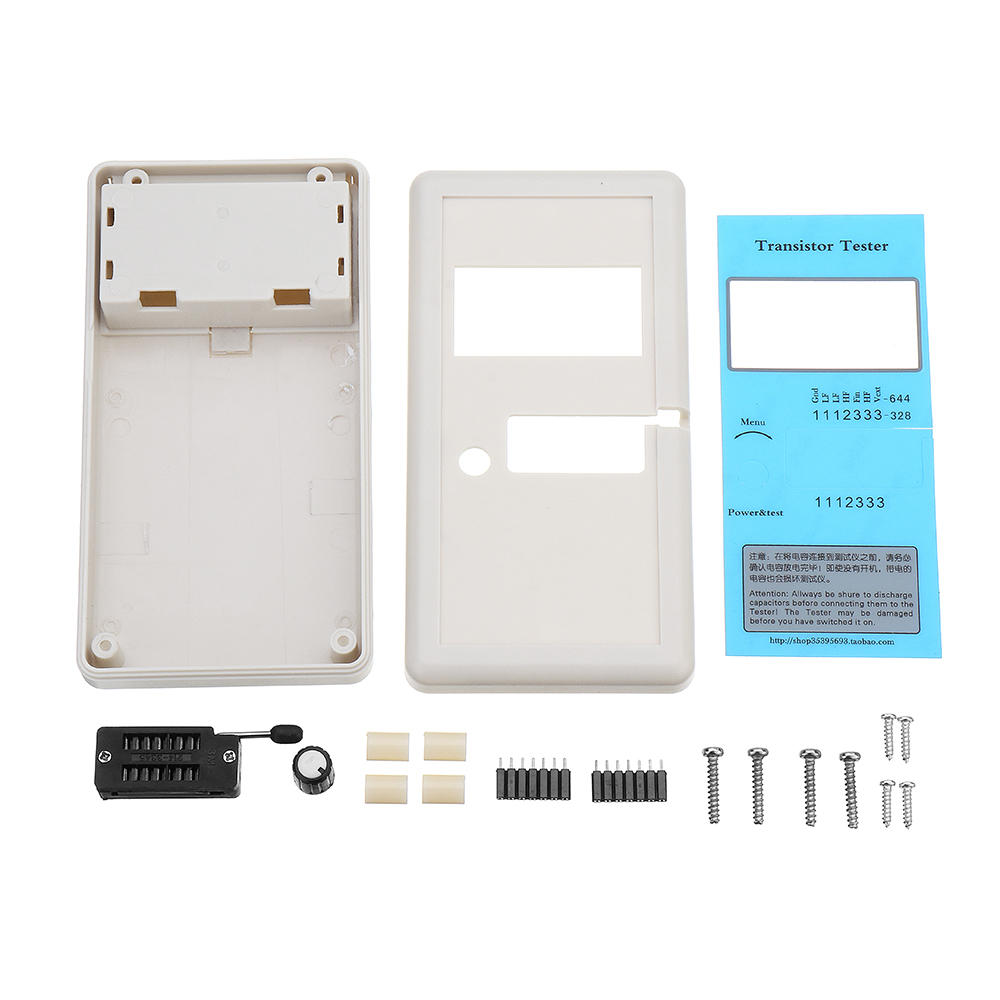 Original Hiland Supporting Shell For DIY M12864 Graphics Version Transistor Tester Module Case