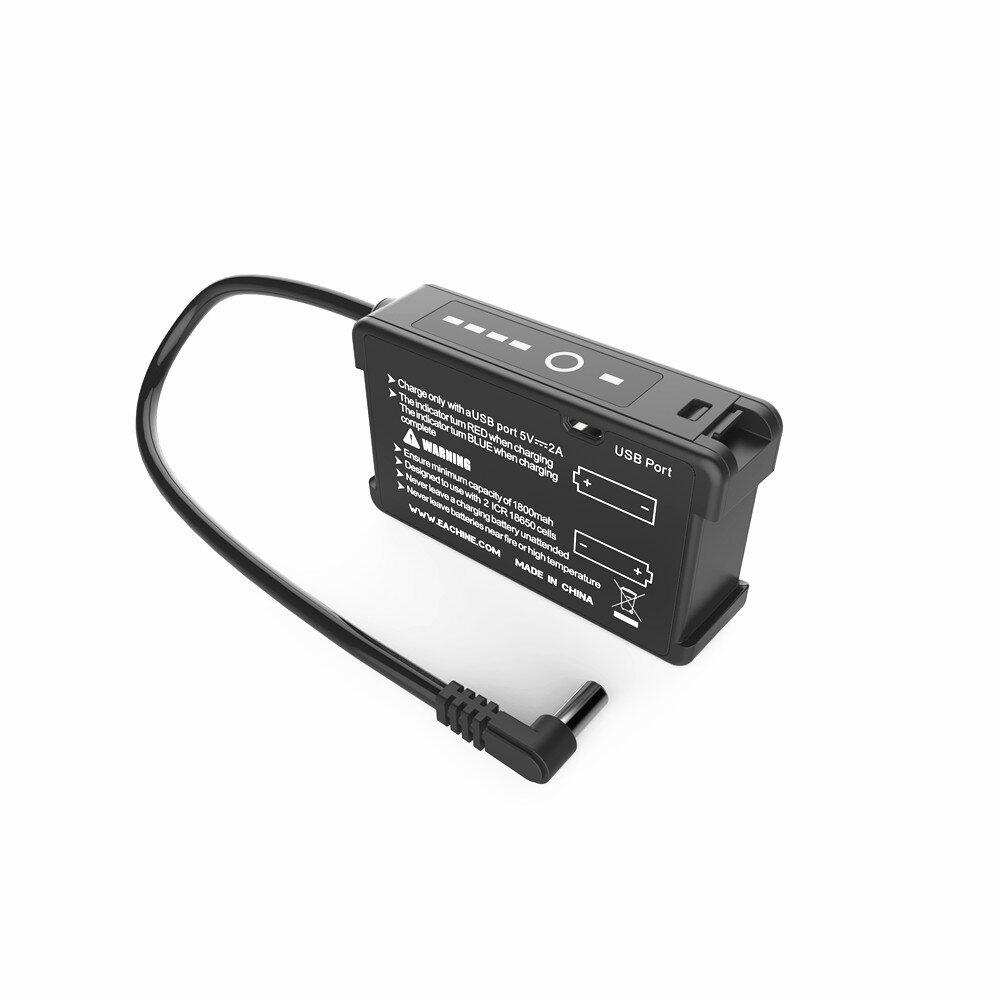 Eachine 7.4V 18650 Li-ion Cell Bateria Caso com carregador USB integrado para EV200D EV300D EV300O DJI Fatshark Skyzone
