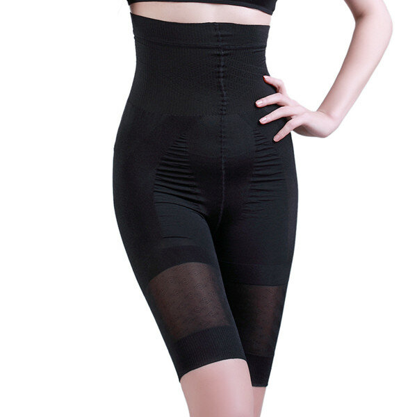 High Waisted Hip Lifting Slimming Thigh Stretchy  Breathable Shapewear