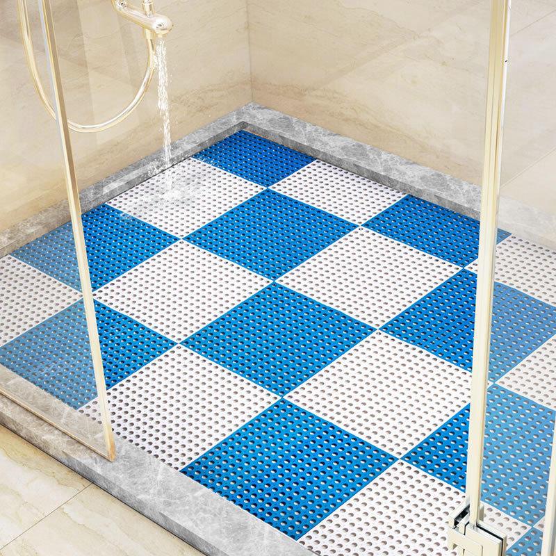 Solid Pvc Handmade Sching Hollow Non Slip Floor Mat Bathroom Toilet Supply Diy Mats