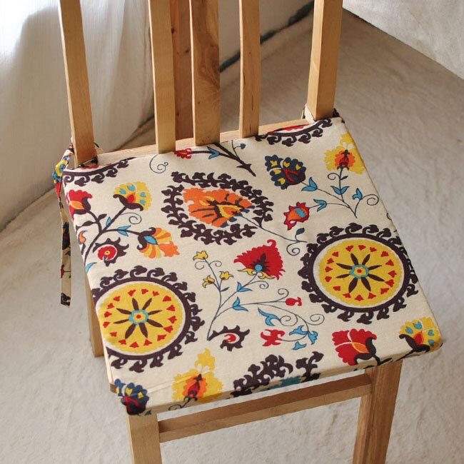 40x40cm Bohemia Style Sponge Cotton Linen Office Home Chair Seat Cushion Mat Home Decor