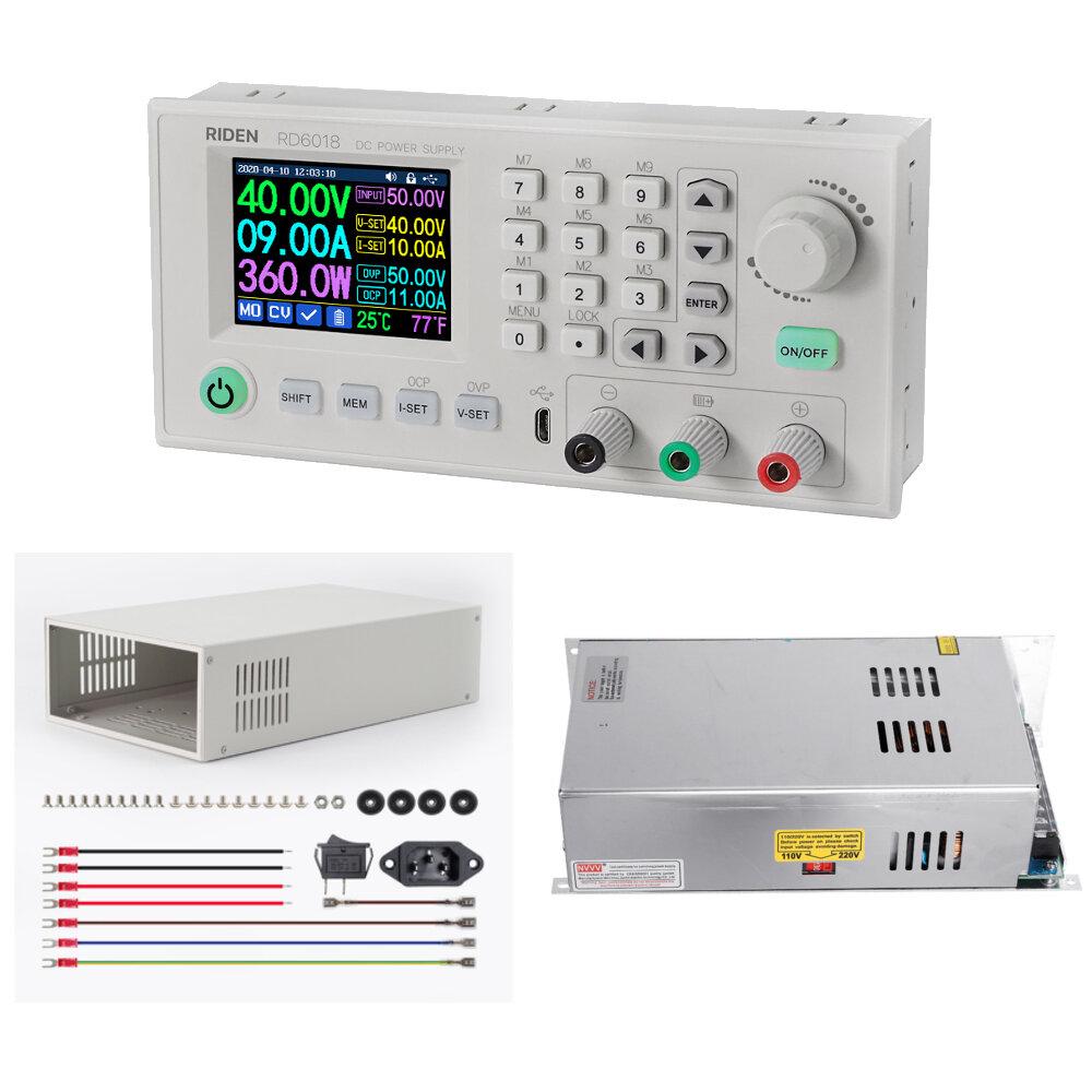 RIDEN® FULL KIT RD6018 RD6018W USB WiFi DC to DC Voltage Step Down Power Supply Module Buck Converter Voltmeter Multimet