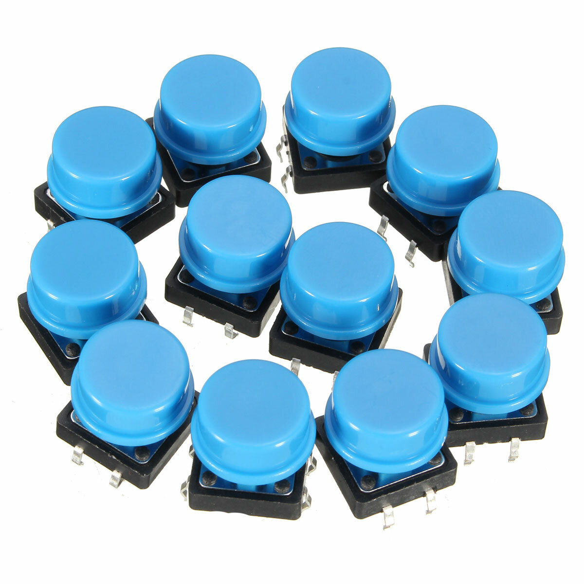 20Pcs Tactile Push Button Switch Momentary Tact Caps