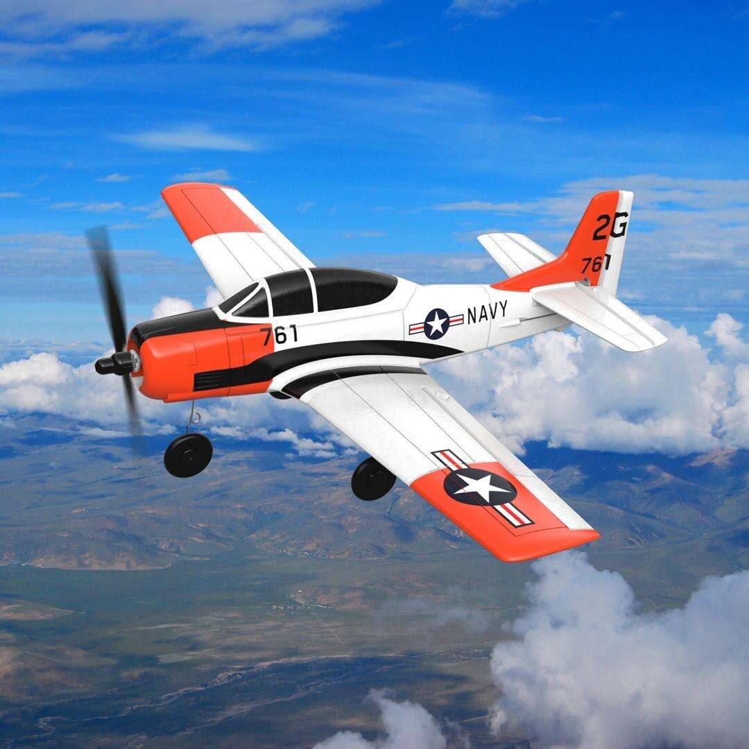 Eachine Mini T-28 Trojan EPP 400mm Wingspan 2.4G 6-Axis Gyro RC Airplane Trainer Fixed Wing RTF One Key Return for Begin
