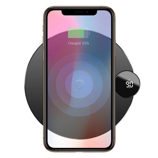 the latest c2b90 190cd Baseus LCD Digital Display 10W 7.5W Qi Wireless Charger Charging Pad For  iPhone XS MAX XR S9 Note 9