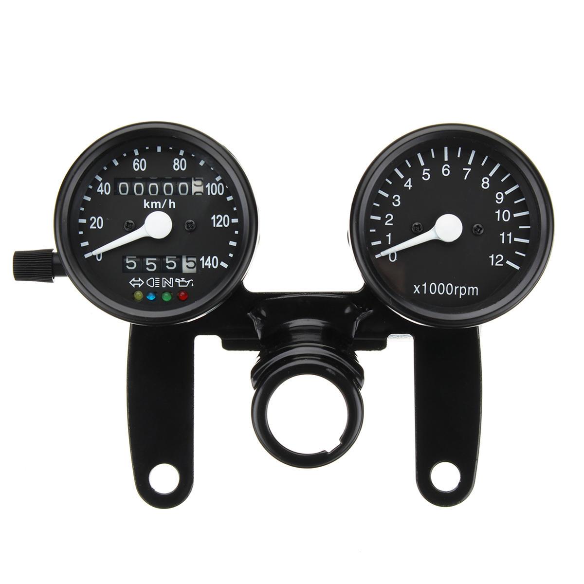 Other Instruments & Gauges Parts & Accessories 3 Diameter Motorcycle LED Backlight Tachometer Speedometer Gauge Universal