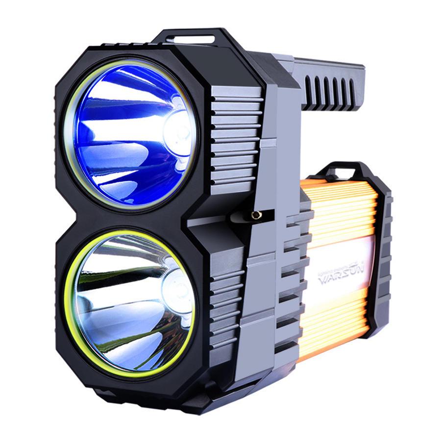 WARSUN D398 Blue Light TORCIA Torcia ricaricabile 40m² High Lumen Potente LED Torch