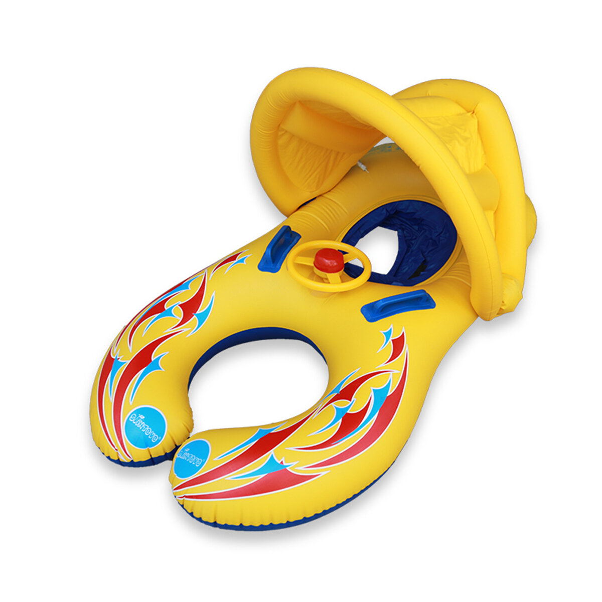 IPRee ™ Baby Swimming Piscina Flotador de agua inflable para niños Safety Ring Seat Canopy