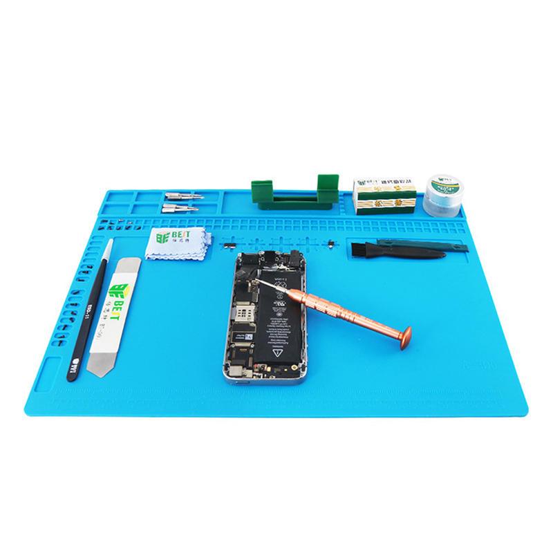 BEST S120 S130 S140 चुंबकीय गर्मी प्रतिरोधी सिलिकॉन पैड डेस्क चटाई रखरखाव मंच गर्मी इन्सुलेशन BGA मिलाप मरम्म