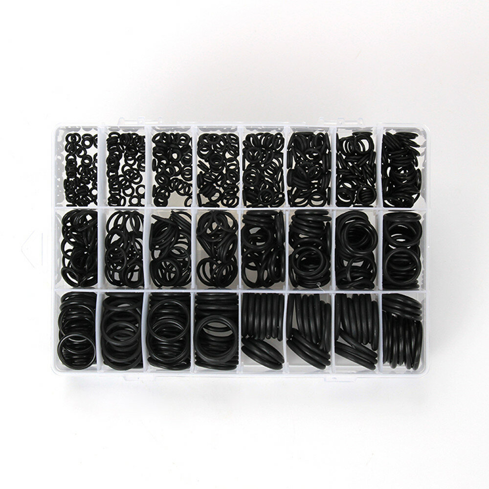 1200PCS Black Rubber O-Ring Gaskets Assorted Size Kit for RC Drone RC Airplane Spare Part