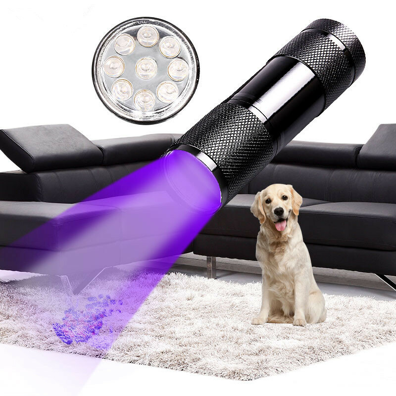 XANES U01 9x LED Violet Light Multifunction UV LED Flashlight Fluorescence Detection Pen AAA