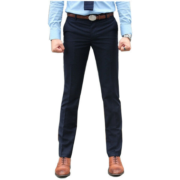 Mens Fit Easy Care Suit Leisure Formal Straight Trousers Pant
