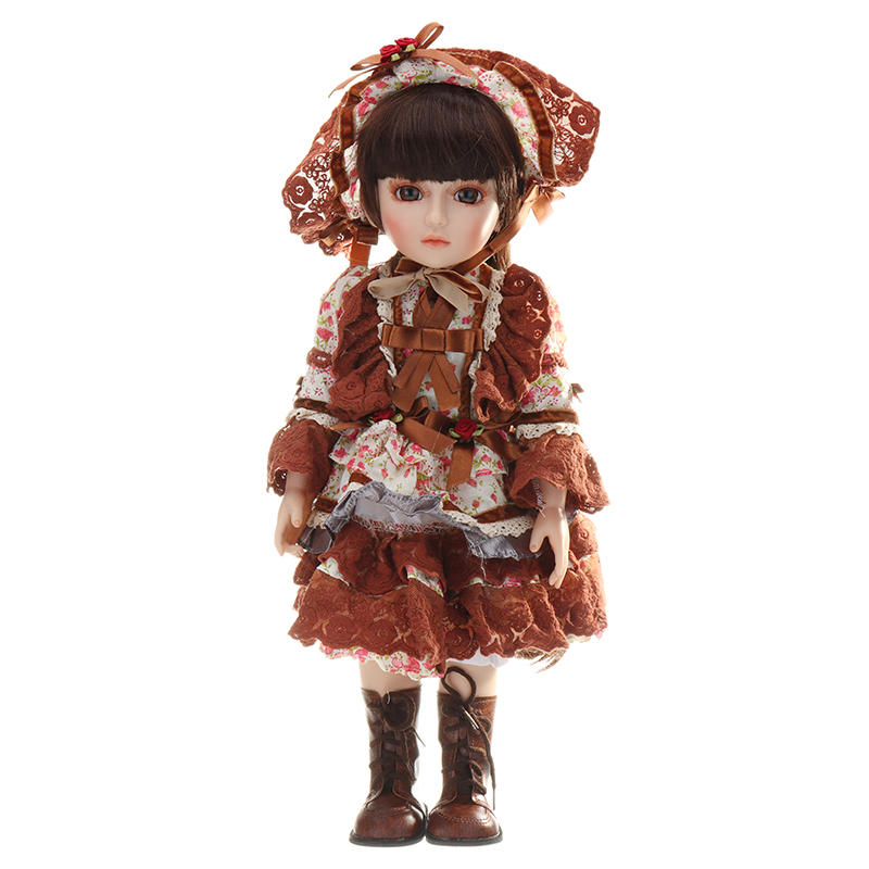NPK 45cm BJD Doll 1/4 Cute Ball Joint Doll Dressed Girl Handmade Lifelike Baby PlayHouse Toy Collection