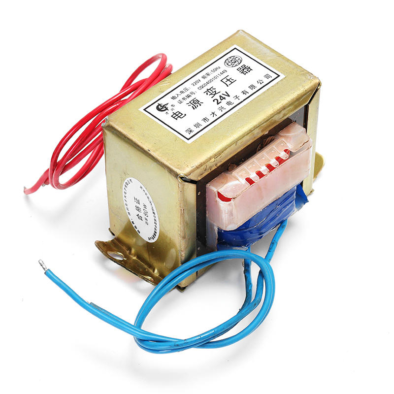 80W AC 220V To 24V Single Low Frequency E Type Isolation Small Power  Transformer