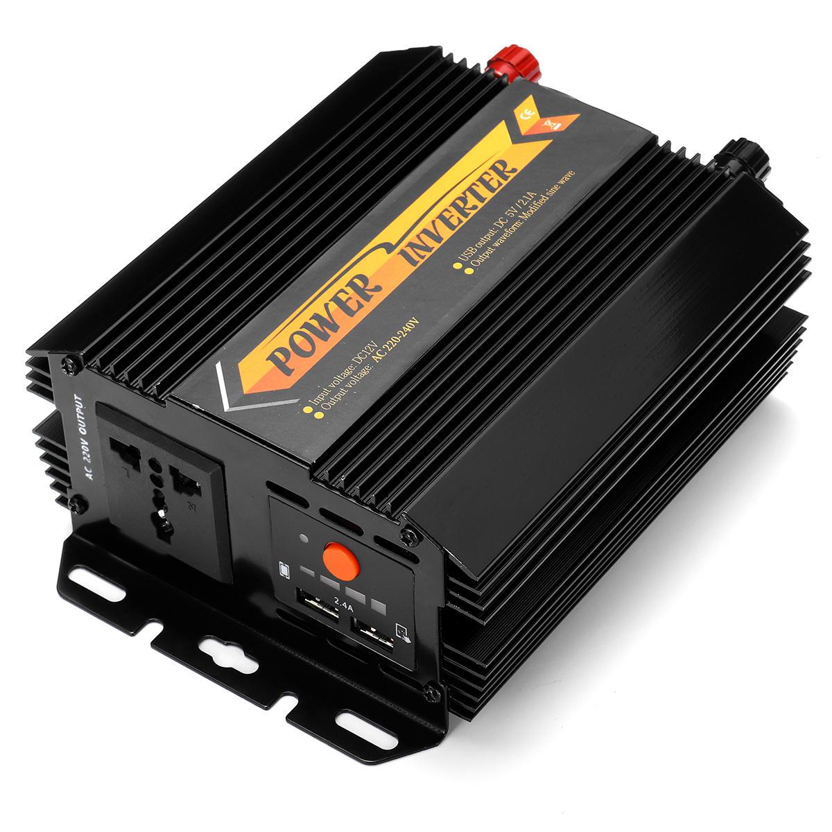 600W Peak Power Inverter 12V/24V To 220V-240V Digital Modified Sine Wave Converter