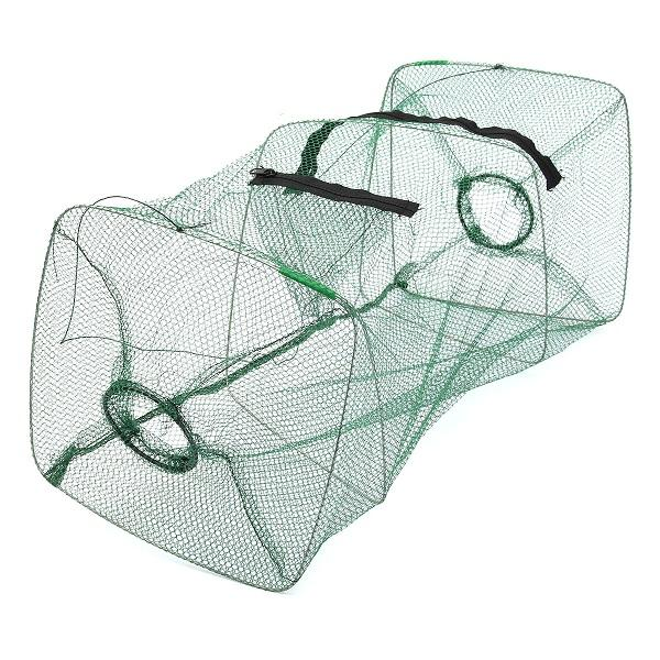 Fishing Bait Net Trap Cast Dip Cage Crab Fish Minnow Crawdad Shrimp Foldable  RP