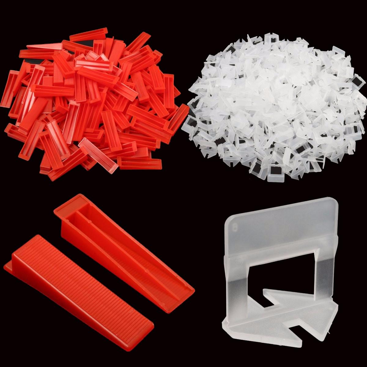 600 Tile Leveling System Wedges And Clips Spacer Plastic Tiling Tools Us 53 55