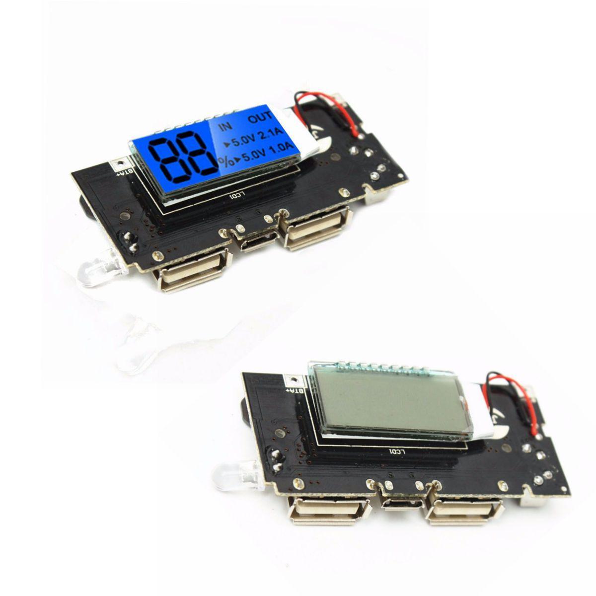 2 पीसीएस डुअल यूएसबी 5V 1 ए 2.1 ए मोबाइल पावर बैंक 18650 बैटरी चार्जर पीसीबी मॉड्यूल बोर्ड