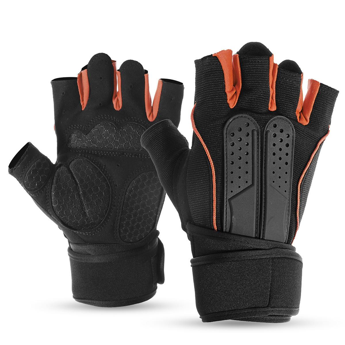 Half Finger Racing Trọng lượng nâng Găng tay tập thể dục Tập luyện quấn cổ tay Thể dục Tập thể dục Tập thể dục