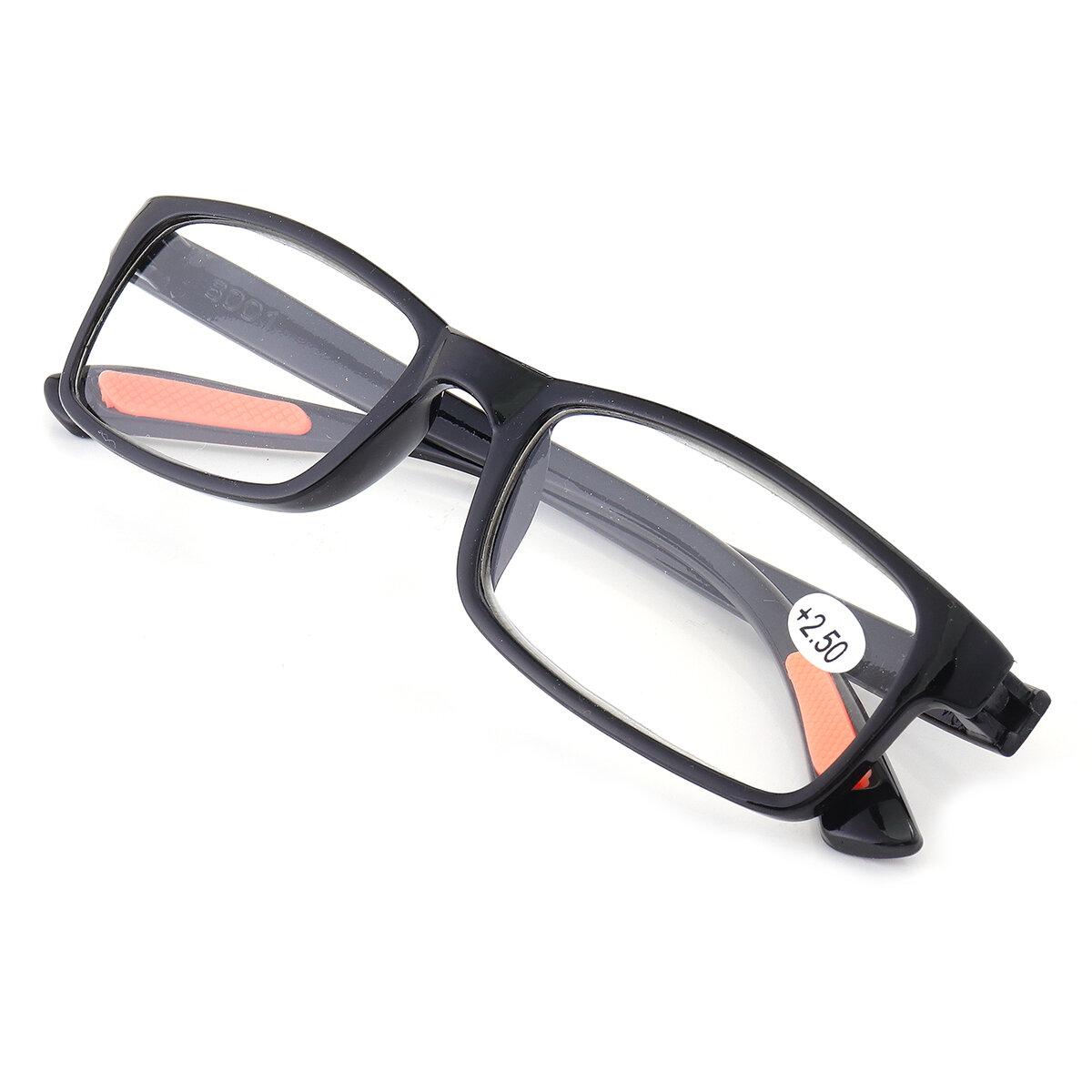 TR90 Occhiali da Lettura Portatili Durevoli Leggeri in Resina Colore Nero Estremamente Flessibili