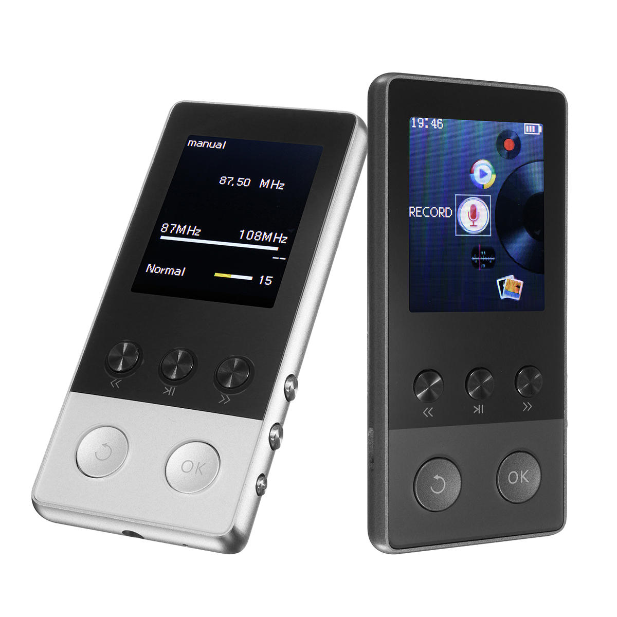 A5 Plus 1.8 Inch 8GB 250 Hours Portable MP3 Lossless Music Player FM/TF Pedometer Function