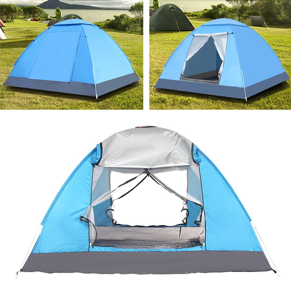 IPRee® 3-4 Personen Vollautomatisches Campingzelt 2 Türen Wasserdicht Winddicht UV-Schutz Sonnenschutz Baldachin Camping