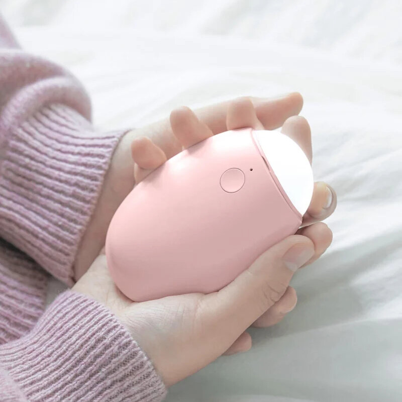 SOLOVE 3 In 1 Hand Wamer USB Rechargeable Mini Heater 3600mAh Power Bank LED Night Light from Xiaomi Youpin