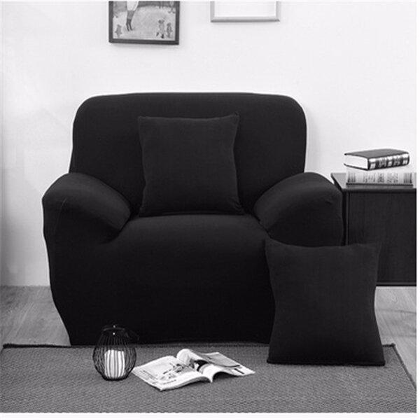 Três lugares cores sólidas têxtil spandex strench sofá elástico protector móveis tampa sofá