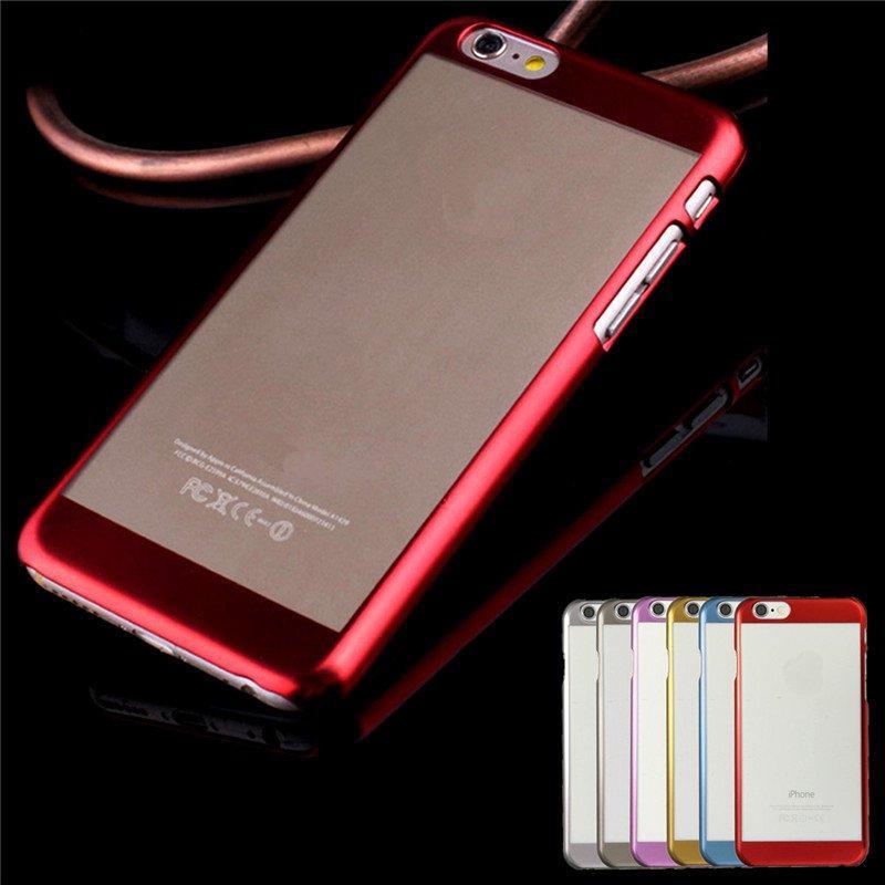 For Apple iPhone 6 / 6S 4.7 '' Veske Ultra Thin Luxury Metal Elektroplate Bakdeksel