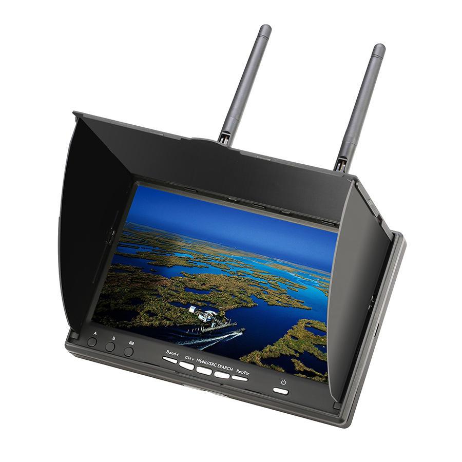 Eachine LCD5802D 5802 5.8G 40ch 7-дюймовый монитор с FPV видеорегистратором и встроенной аккумуляторной батареей