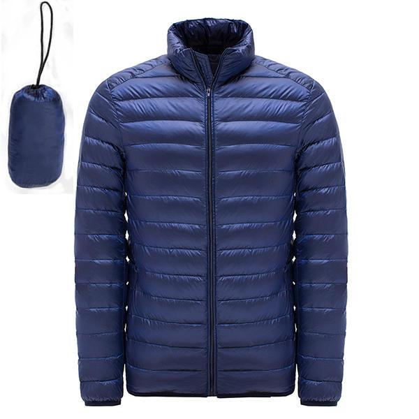 जैकेट विंडप्रूफ गर्म आरामदायक जैकेट कोट नीचे बड़े आकार के पुरुषों हल्के वजन बतख