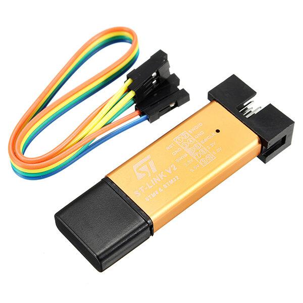 3.3V 5V XTW ST-link V2 STM8 / STM32 Programador Depilador Downloader Depurador com 20cm Cabo Dupont