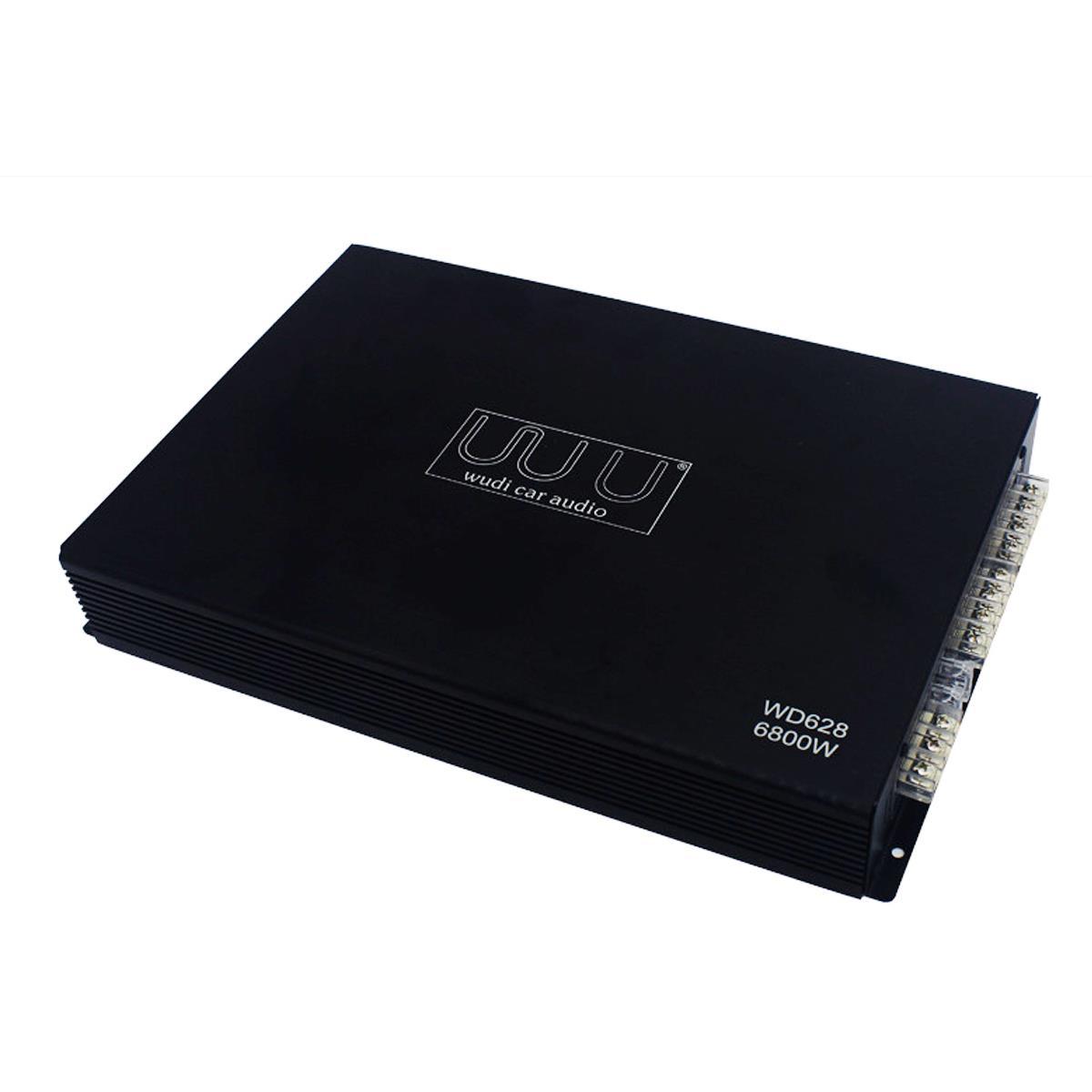 DC 12V Wudi 6800 Watt 4-Channel Car Power Amplifier