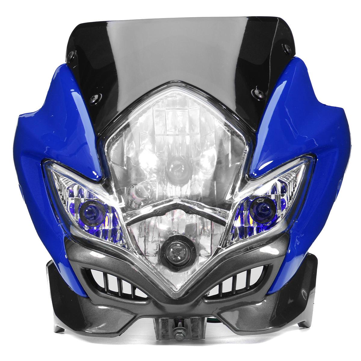 differently 5e94a a8f06 Universal Motorcycle Dirt Bike Street Fighter Headlight Lamp Bike Fairing  COD
