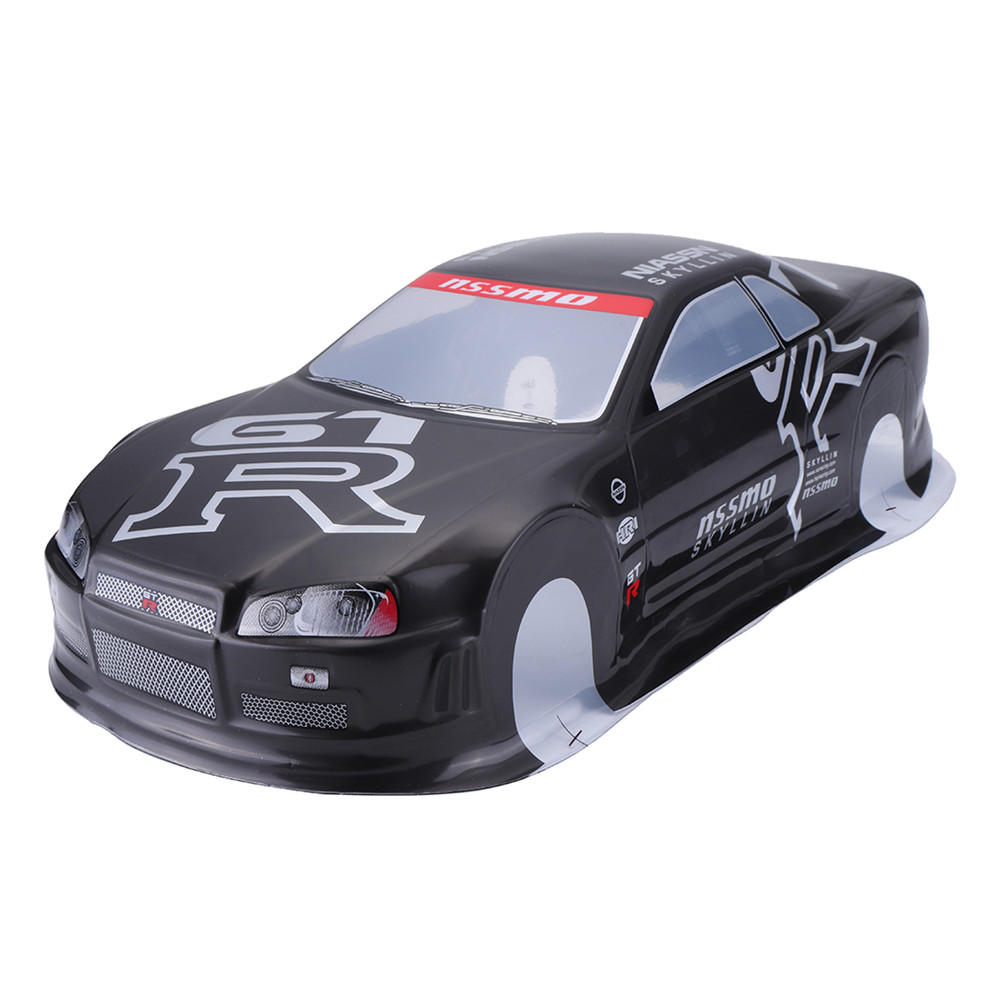 020GR 190MM Painted PVC Body Shell +Rear Wing For 1:10 RC Drift Racing Car  Model Parts