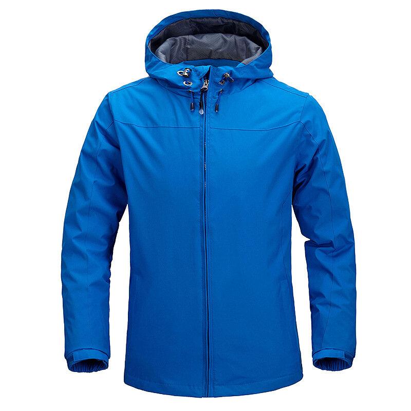 Mens Outdoor Water Repellent Hiking Outdoor Windproof Casual Jacket