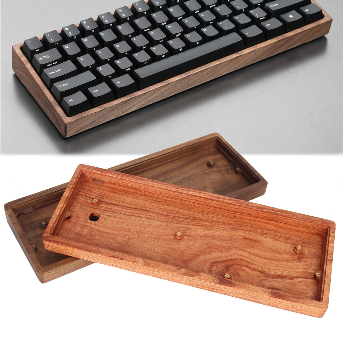 GH60 Solid Wooden Case Customized Shell Base For 60% Mini Mechanical Gaming Keyboard