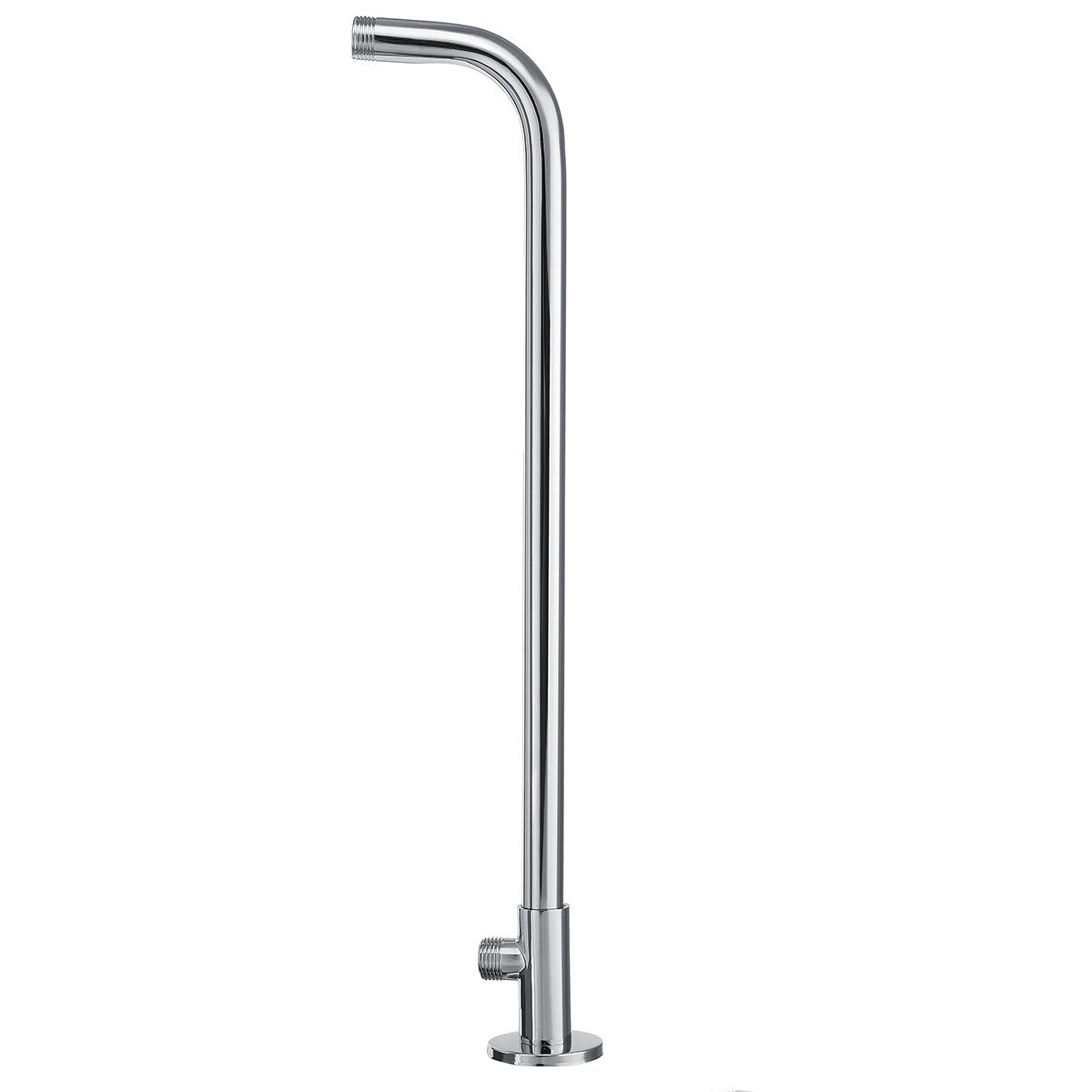 New 49cm Stainless Steel Wall Shower Head Extension Pipe