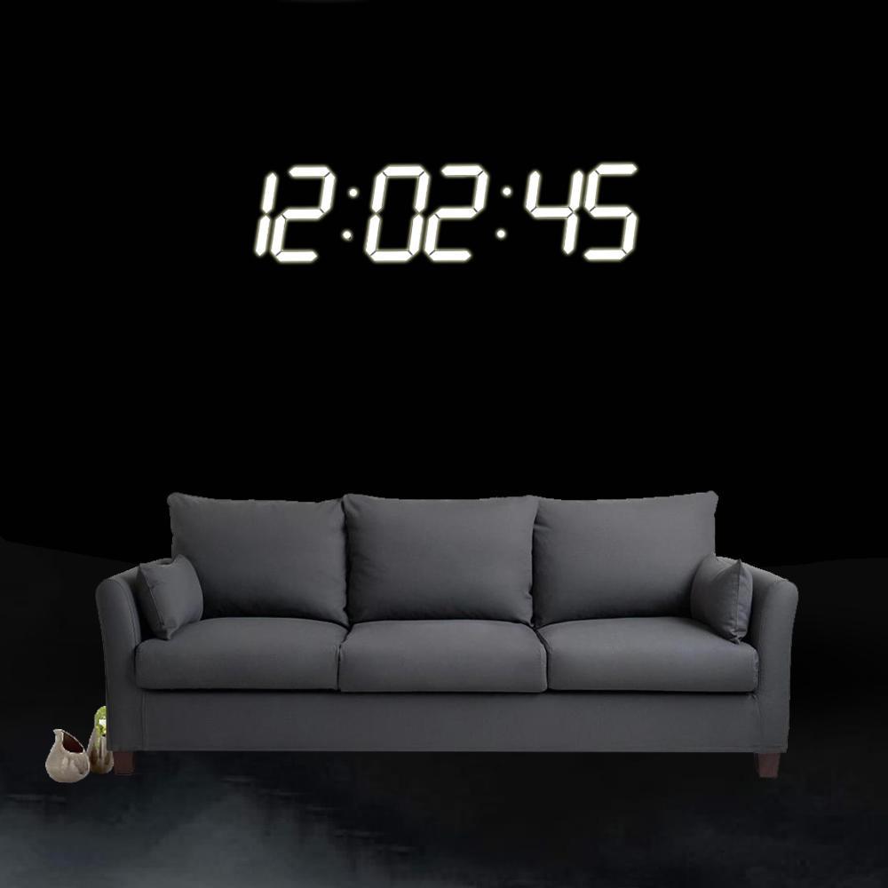 Super duży cyfrowy LED budzik Zegar ścienny Zdalne sterowanie Odliczanie czasowe Sport Timer Stoper