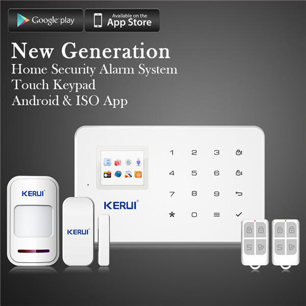 KERUI G18 Wifi Phone APP GSM Alarm Home Security System 99 Wireless Zone TFT Color Built-in Siren
