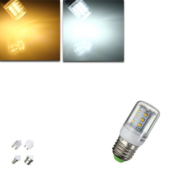 E27/E14/G9/GU10/B22 3W 2835 SMD LED Corn Bulb Warm/White 220V Home Lamp