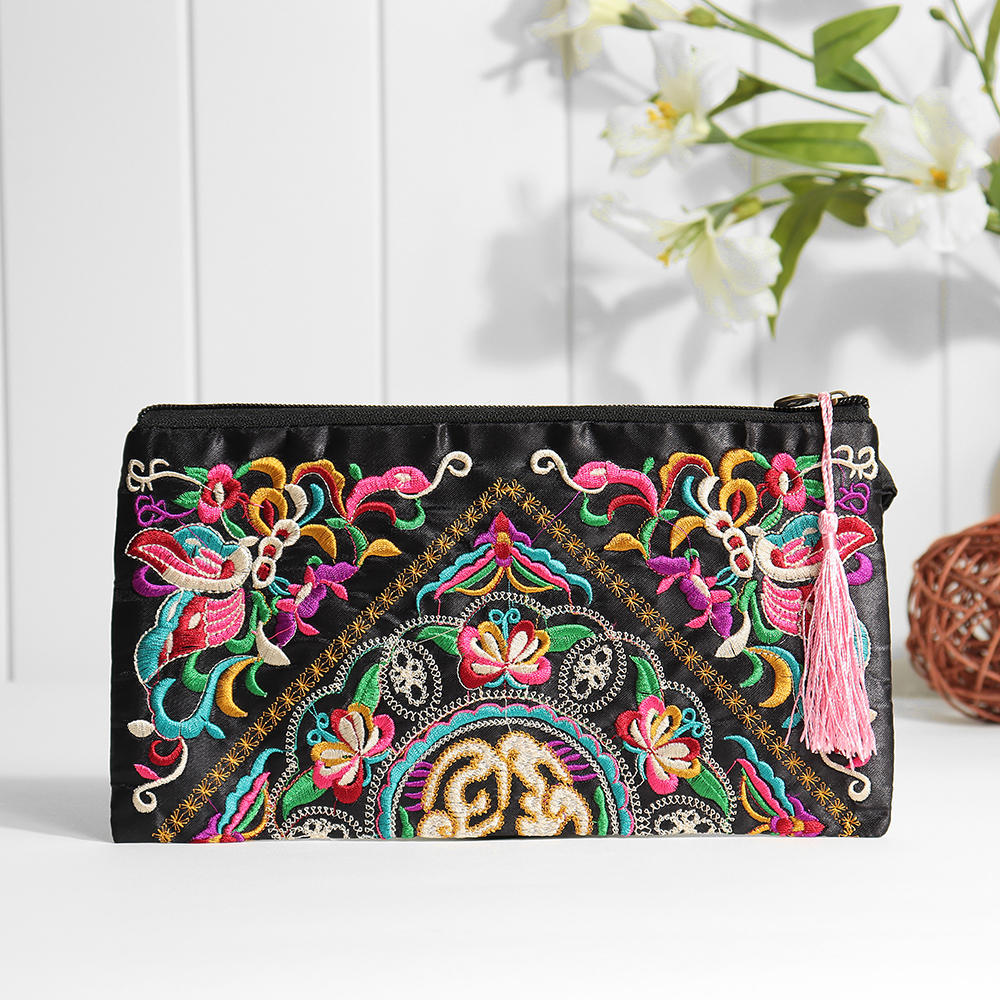 Ethnic Embroidery Flowers Bag Clutch Bag Purse For Women, Banggood  - buy with discount