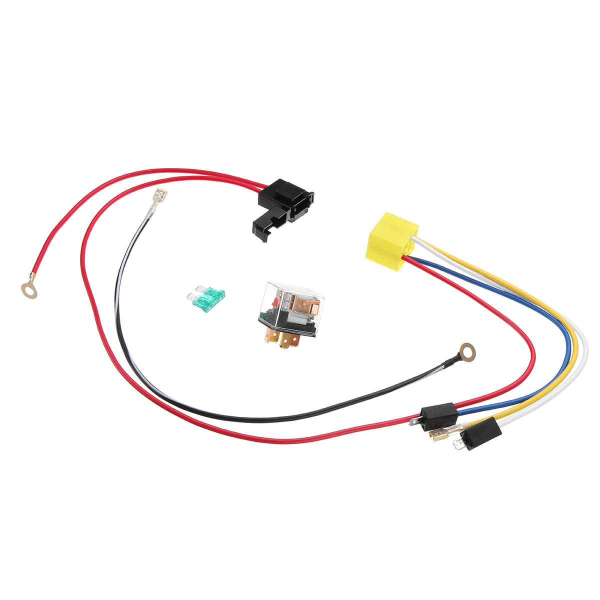 12v dual tone electric air horn wiring harness relay for car truck van  train boat universal cod